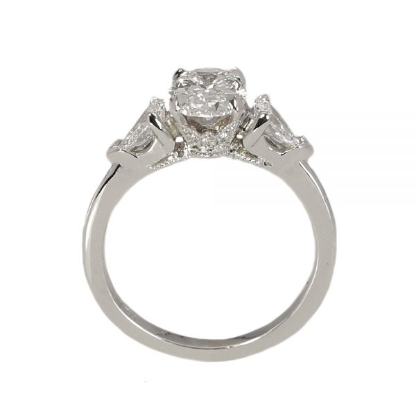 Mary Oval and Pear Diamond Engagement Ring-1546