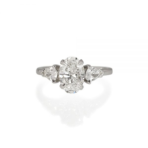 Mary Oval and Pear Diamond Engagement Ring-0