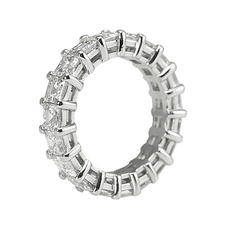 Asscher cut Diamond Eternity Ring  by Cynthia Britt