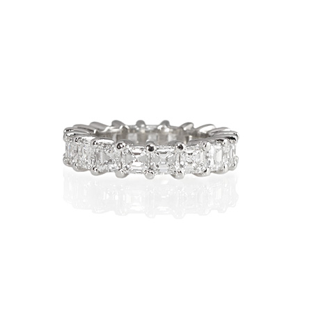 Asscher cut diamond eternity ring