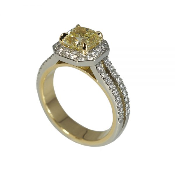 Adenike Fancy Yellow Two Tone Engagement Ring-1553
