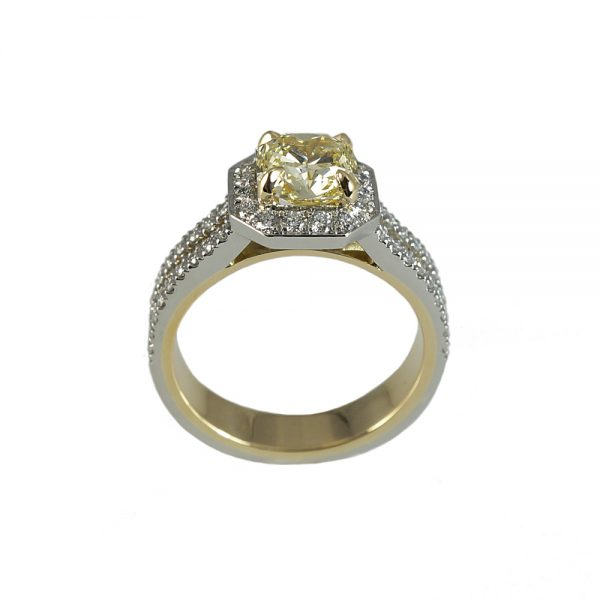 Adenike Fancy Yellow Two Tone Engagement Ring-1552