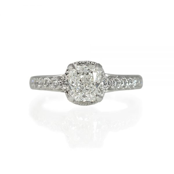 Monica Cushion Cut Diamond Engagement Ring-0