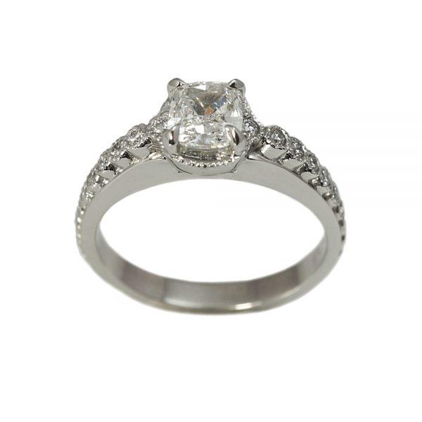 Monica Cushion Cut Diamond Engagement Ring-1556