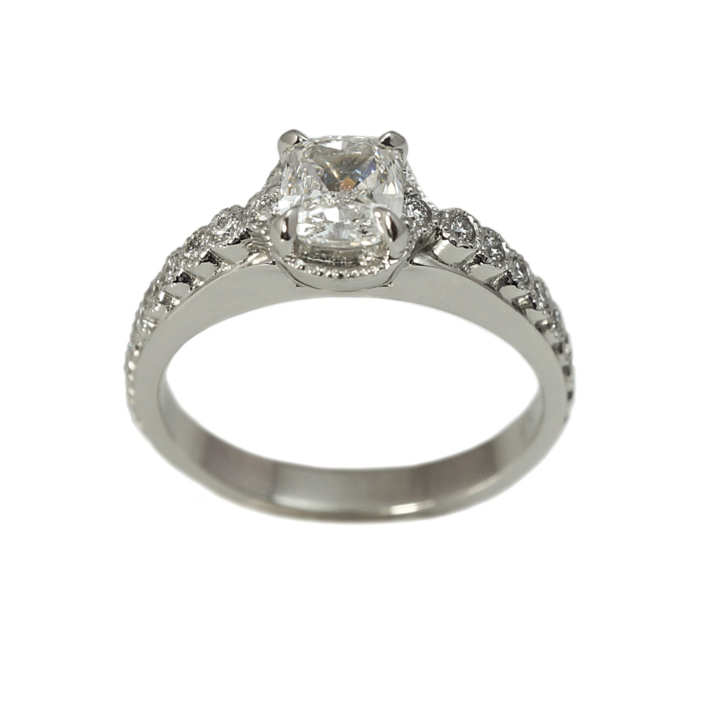 Monica Cushion Cut Diamond Engagement Ring