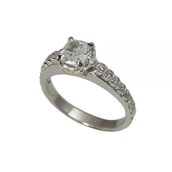 Monica Cushion Cut Diamond Engagement Ring-1557