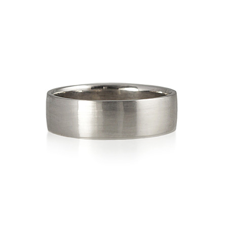 Hand Made Men's Wedding Ring With Matte Finish