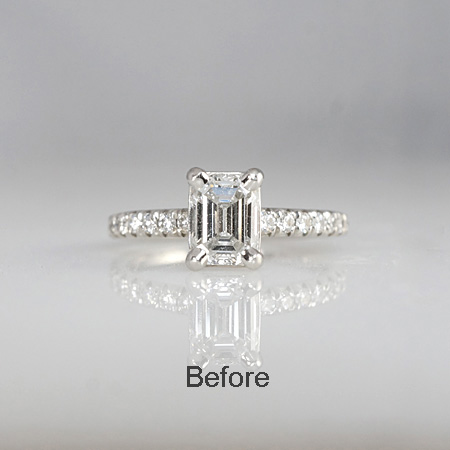 Engagement Ring Before Halo