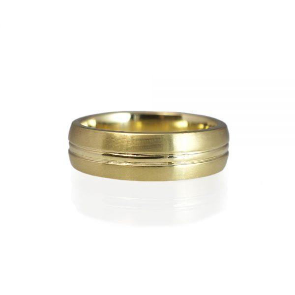 Andrew Men's Green Gold Wedding Ring-0