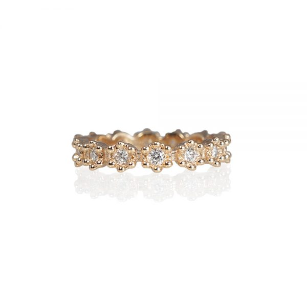 Christa Flower Diamond Eternity Wedding Ring-0