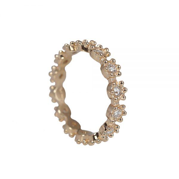 Christa Flower Diamond Eternity Wedding Ring-1572