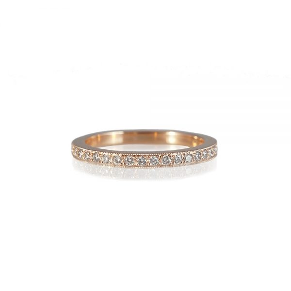 Elizabeth Gold Diamond Wedding Band-0