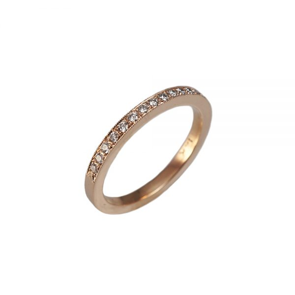 Elizabeth Gold Diamond Wedding Band-1584