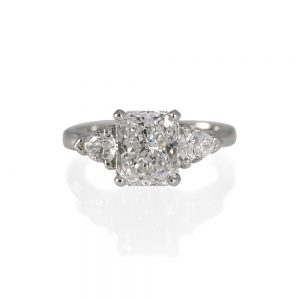 Heather Radiant Cut And Pear Shape Diamond Engagement Ring-0