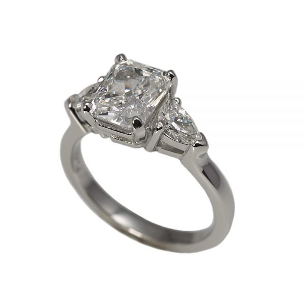 Heather Radiant Cut And Pear Shape Diamond Engagement Ring-1578