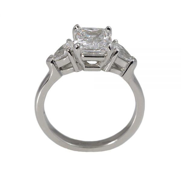 Heather Radiant Cut And Pear Shape Diamond Engagement Ring-1577