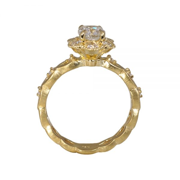 Kelsey Floral Yellow Gold Engagement Ring-1581