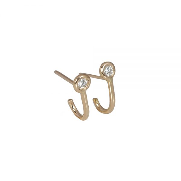Small Diamond Cuff Earrings-1596
