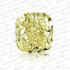 Cushion Cut 5.17 carat Fancy Yellow Diamond-0