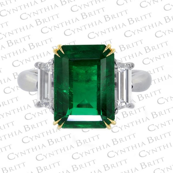 4.56 Carat Emerald And Diamond Ring-0