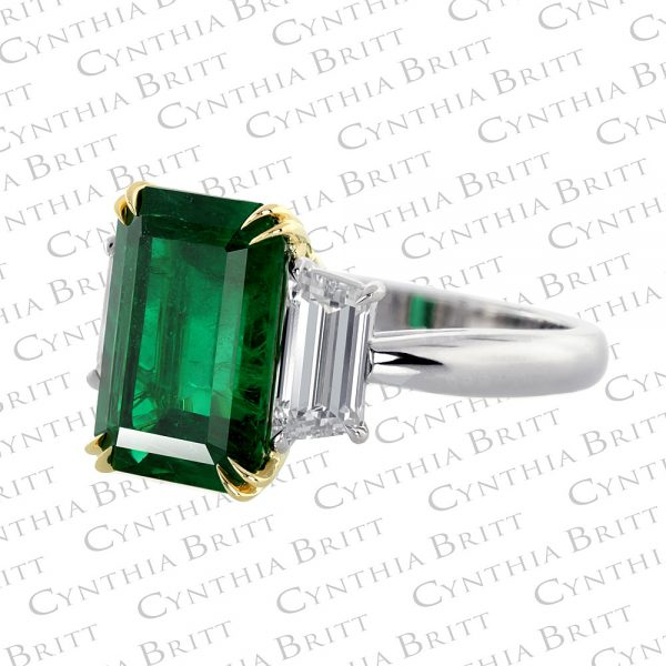4.56 Carat Emerald And Diamond Ring-1620