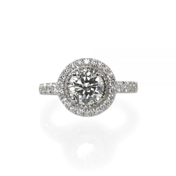 Julie Round Halo Engagement Ring-0