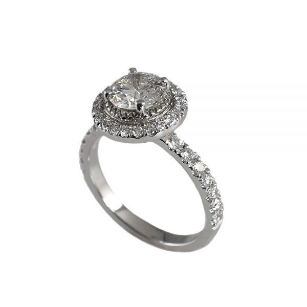 Julie Round Halo Engagement Ring-1730