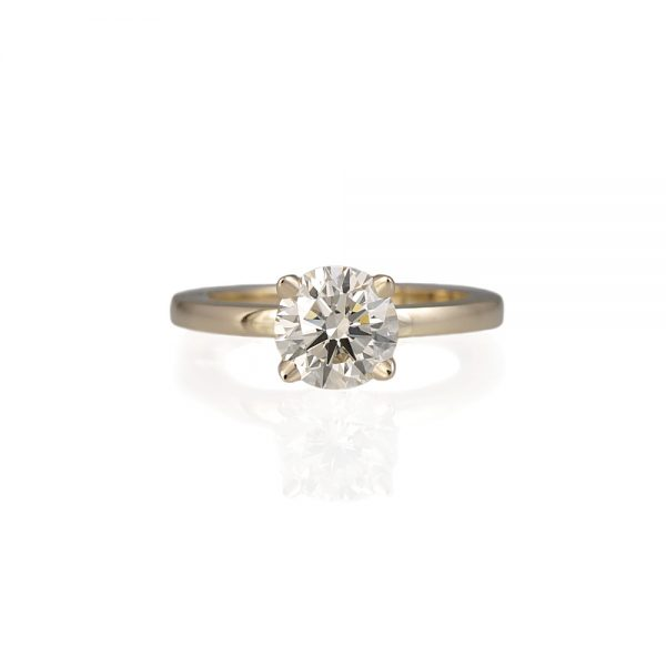 Lydia Gold Solitaire Engagement Ring-0