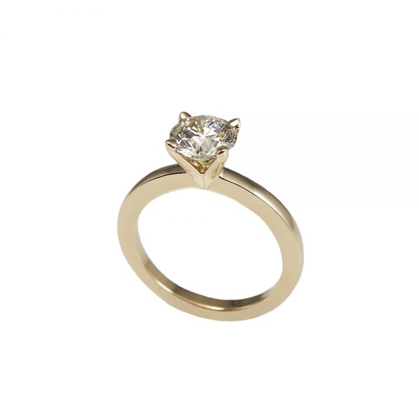 Lydia Gold Solitaire Engagement Ring-1605