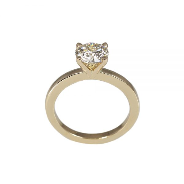 Lydia Gold Solitaire Engagement Ring-1604