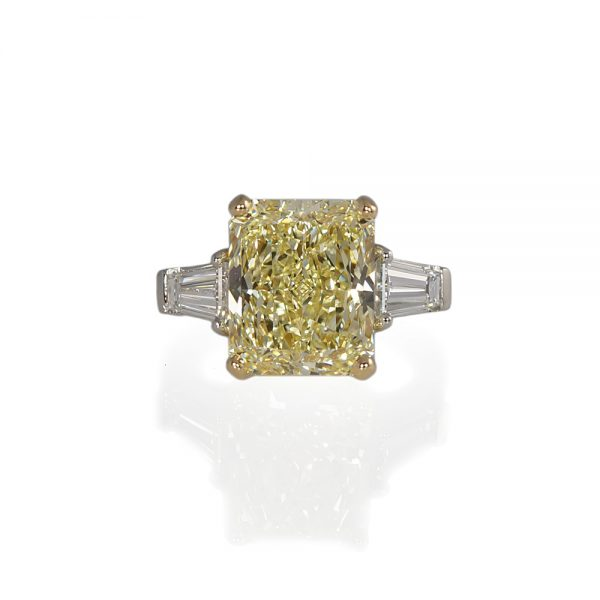 Maggie Fancy Yellow Diamond Engagement Ring-0