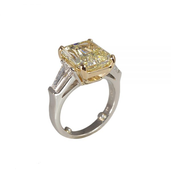 Maggie Fancy Yellow Diamond Engagement Ring-1630