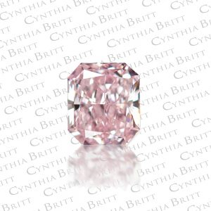 Fancy Purplish Pink Radiant Cut 0.40 carat Diamond-0