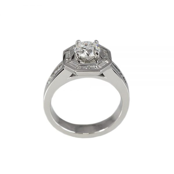 Sarah Baguette Halo Engagement Ring-1598