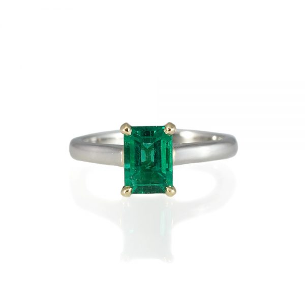 Sarah Emerald Solitaire Engagement Ring-0