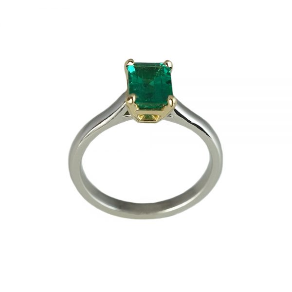 Sarah Emerald Solitaire Engagement Ring-1617