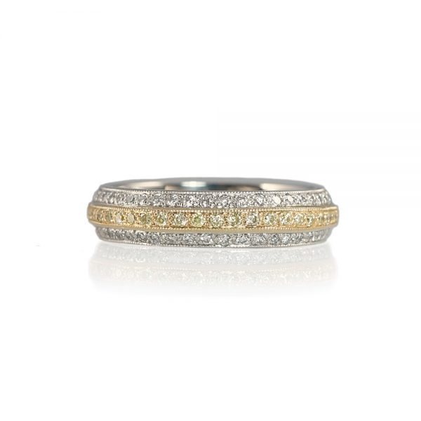Bella Two-Tone Wedding Band-0