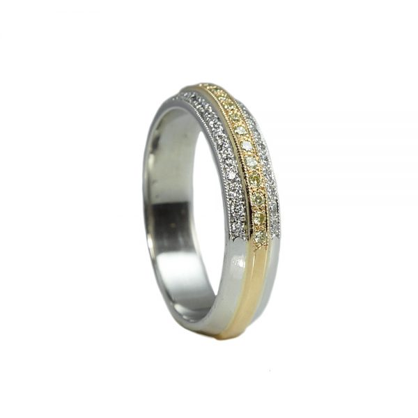 Bella Two-Tone Wedding Band-1642