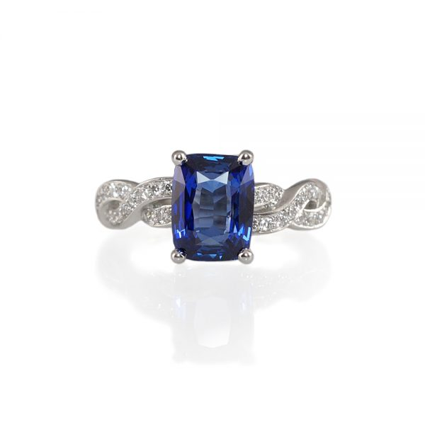Kate Sapphire Diamond Wrap Engagement Ring-0