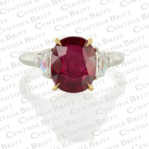 Ruby And Diamond Ring-0