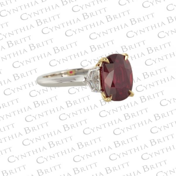 Ruby And Diamond Ring-1644