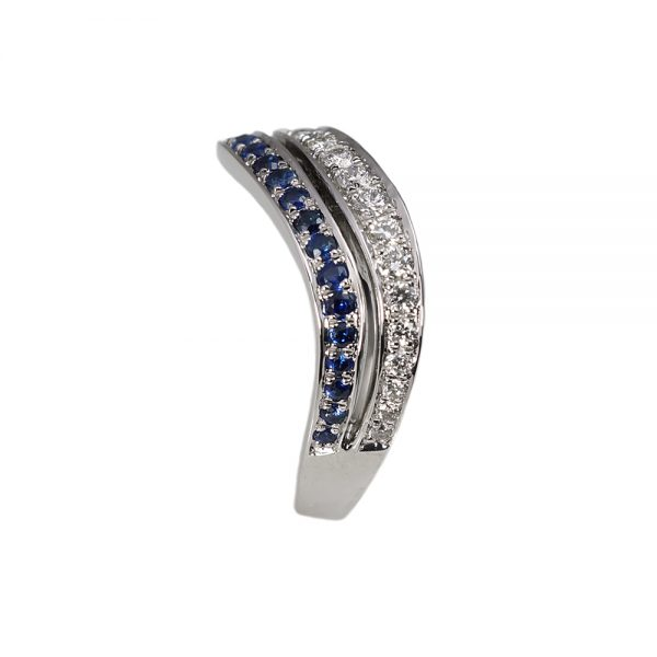 Whitney Sapphire And Diamond Wedding Band-1566