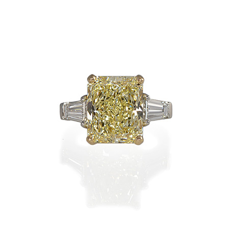 Hand Made Fancy Yellow Diamond Engagement Ring