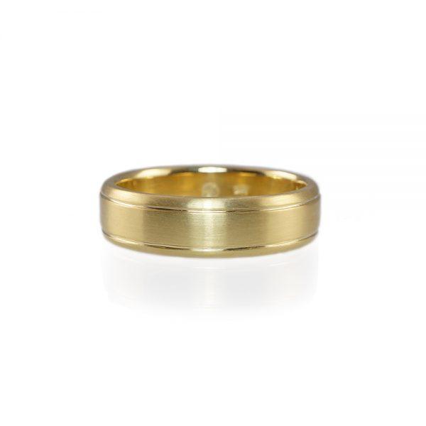 David Green Gold Wedding Band-0