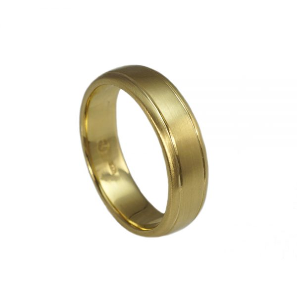 David Green Gold Wedding Band-1676