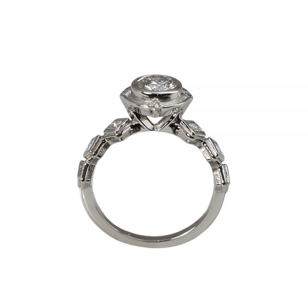 Karyn Bezel Set Diamond Engagement Ring-1673