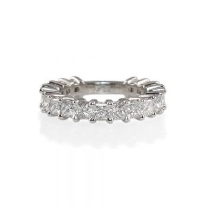 Lin Princess Cut Diamond Wedding Band-0