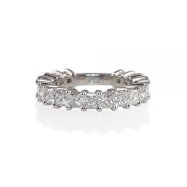 Lin Princess Cut Diamond Wedding Band-0