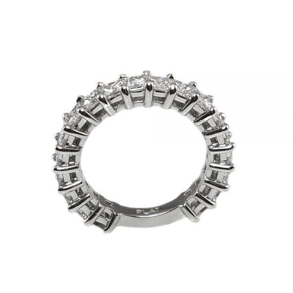 Lin Princess Cut Diamond Wedding Band-1659