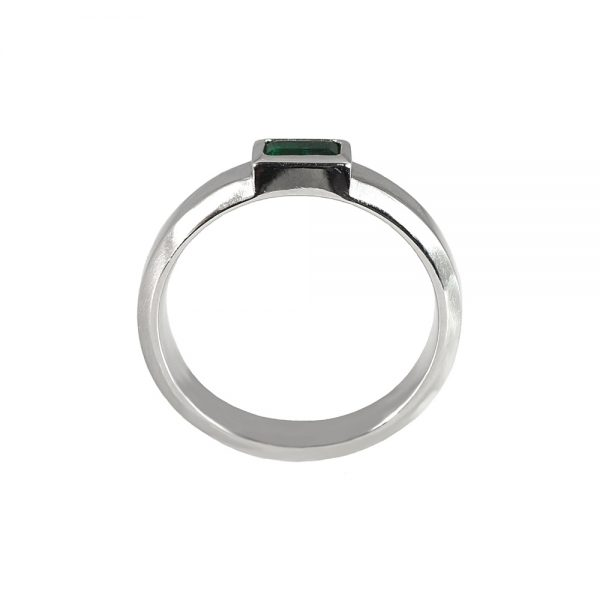 Phillip Emerald And Platinum Wedding Band-1656